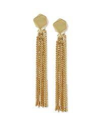 Kenneth Cole | Metallic New York Goldtone Geometric Bead Chain Tassel Drop Earrings | Lyst