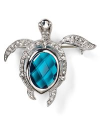 Carolee - Blue Turtle Pin - Lyst