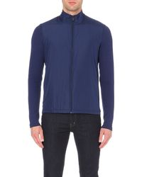 Michael Kors | Blue Contrast-detail Shell And Knitted Jacket - For Men for Men | Lyst
