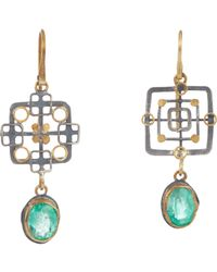 Judy Geib - Metallic Emerald, Gold & Silver Double - Lyst