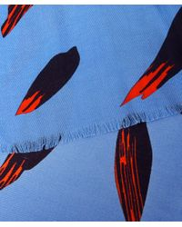KENZO | Blue Bamboo Scarf | Lyst