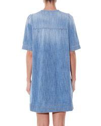 fe1b61abaee Étoile Isabel Marant Oriane Short-sleeved Denim Dress in Blue - Lyst
