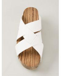 Proenza Schouler - White Flat Platform Sandals - Lyst
