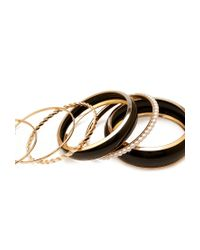 Forever 21 | Metallic Pretty Tough Bangle Set | Lyst