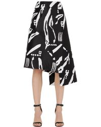 Cameo | Black Night Changes Printed Skirt | Lyst