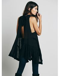 Free People - Black Endless Summer Womens Pretty Tent Tunic - Lyst