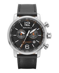 Brera Orologi - Metallic Brera 'dinamico' Chronograph Leather Strap Watch for Men - Lyst