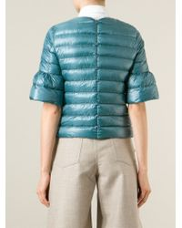 Herno - Blue Short Sleeve Padded Jacket - Lyst