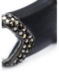 Alexis Bittar - Black Chevron Section Hinge Bracelet - Lyst