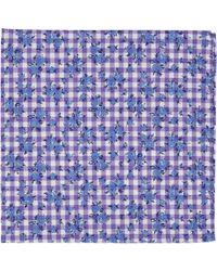 Thomas Mason - Purple Gingham Pocket Square for Men - Lyst