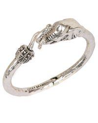 Lucky Brand | Metallic Silvertone Bracelet With Elephant Embellishment | Lyst