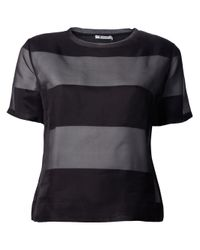 T By Alexander Wang | Black Layered Tshirt | Lyst