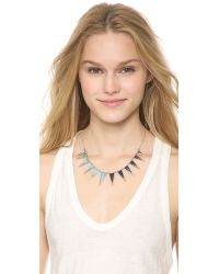 House of Harlow 1960 - Blue Concentrical Collar Necklace Lapisturquoise - Lyst