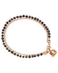 Astley Clarke | Black Biography 18ct Rose Gold Vermeil Little Parcel Friendship Bracelet | Lyst