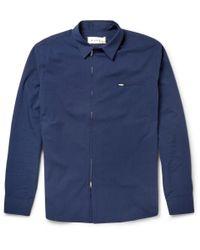 Marni | Blue Zipped Cotton-Blend Shirt for Men | Lyst