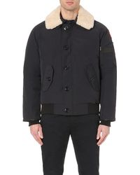 Canada Goose | Blue Foxe Shearling-collar Bomber Jacket for Men | Lyst