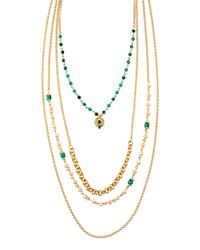Panacea | Metallic Multi-strand Bead Necklace | Lyst