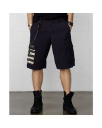 Denim & Supply Ralph Lauren - Black Cutoff Military Camo Cargo Shorts for Men - Lyst