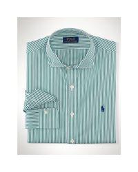 Polo Ralph Lauren - Green Striped Stretch Poplin Shirt for Men - Lyst