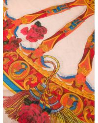 Dolce & Gabbana | Orange Sicilia Scarf | Lyst