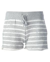 MICHAEL Michael Kors | Gray Striped Shorts | Lyst