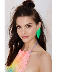 Nasty Gal - Green Melody Ehsani Leaf It Out Earrings - Lyst