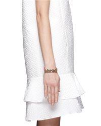 Valentino | Pink Rockstud Chain Leather Bracelet | Lyst