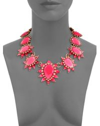 Oscar de la Renta | Pink Bold Jewel Necklace | Lyst
