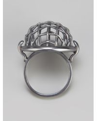 Bottega Veneta | Metallic Mesh Ring | Lyst