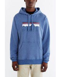Patagonia - Blue Logo Hooded Sweatshirt for Men - Lyst