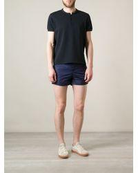 Moncler - Blue Tricolor Stripe Swim Shorts for Men - Lyst