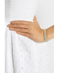 Maria Rudman | Metallic Embroidered Leather Bracelet | Lyst
