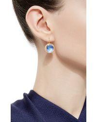 Larkspur & Hawk - Blue Azure Olivia Button Earrings - Lyst