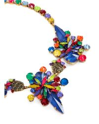 Erickson Beamon | Multicolor 'splash' Crystal Flower Necklace | Lyst