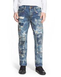 PRPS - Blue 'demon - Noir Sirius' Slim Straight Leg Jeans for Men - Lyst