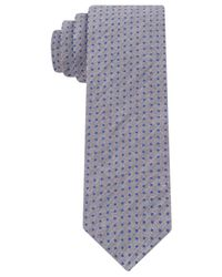 Calvin Klein | Blue Printed Dot Skinny Tie for Men | Lyst
