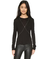 Chan Luu | Metallic Crystal Body Chain | Lyst