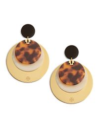 Tory Burch | Metallic Disc Earring | Lyst
