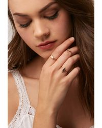 Forever 21 - Metallic Flash Trash Board And Palm Tree Ring Set - Lyst