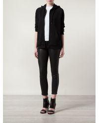 Boutique Moschino | Black Zip-Front Cotton Hoodie | Lyst