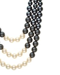 Jaeger | Gray Graduated Pearl Necklace | Lyst