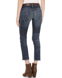 Citizens of Humanity | Blue Phoebe Cropped Jeans - Patina | Lyst