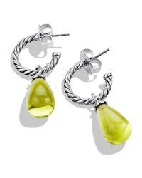 David Yurman - Metallic Color Classics Bead Drop Earrings With Lemon Citrine - Lyst