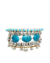 ASOS - Blue Live Fast Friendship Bracelet - Lyst