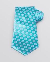 Valentino - Blue Flower Medallion Classic Tie for Men - Lyst