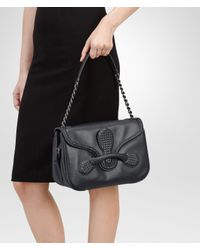 Bottega Veneta - Black Nero Micro Intreccio New Calf Rialto Bag - Lyst