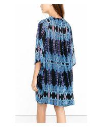 Express - Black And Blue Ikat Print Kimono - Lyst