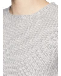 Theory - Gray 'edalina' Wool-cashmere Sweater - Lyst