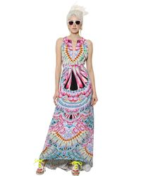 Manish Arora - Multicolor Printed Silk Crepe Dress - Lyst