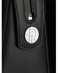 The Row - Black Satchel Smooth-Leather and Ostrich Tote - Lyst